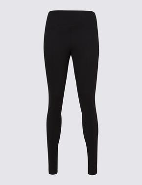 Kadın Siyah Yüksek Belli Legging Pantolon