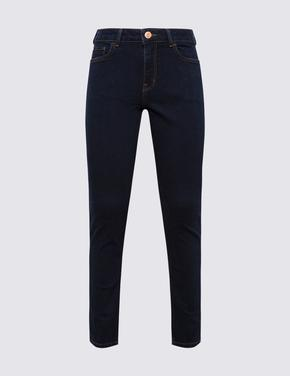 Kadın Lacivert Straight Fit Jean Pantolon