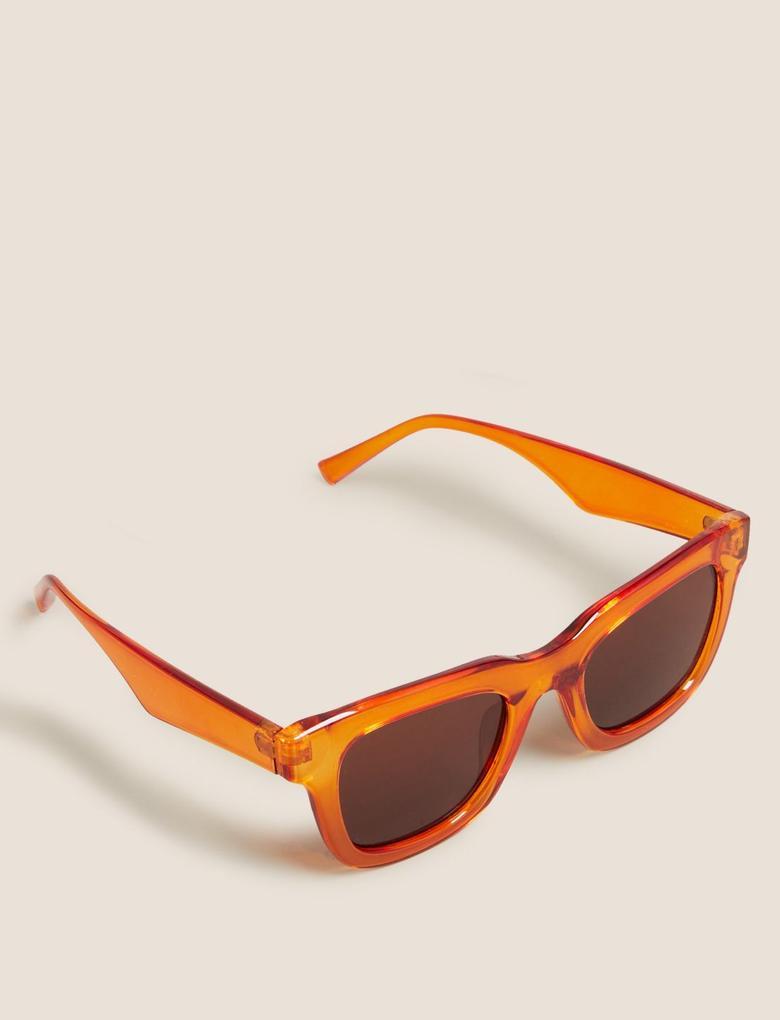 Kadın Turuncu Kare Çerçeveli Gözlük