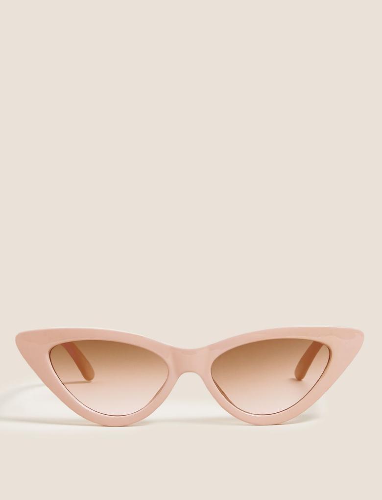 Kadın Pembe Cat Eye Çerçeveli Gözlük