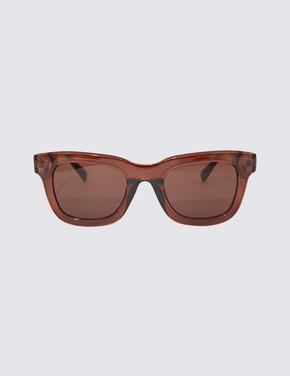 Kadın Kahverengi Kare Çerçeveli Güneş Gözlüğü