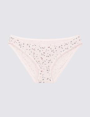 Kadın Pembe 5'li Cotton Lycra® Bikini Külot Seti