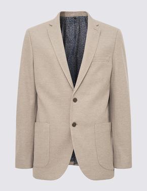 Erkek Renksiz Slim Fit Ceket