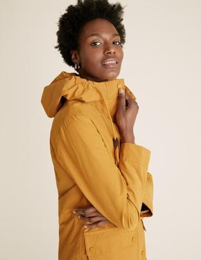 Kadın Sarı Stormwear™ Kapüşonlu Parka