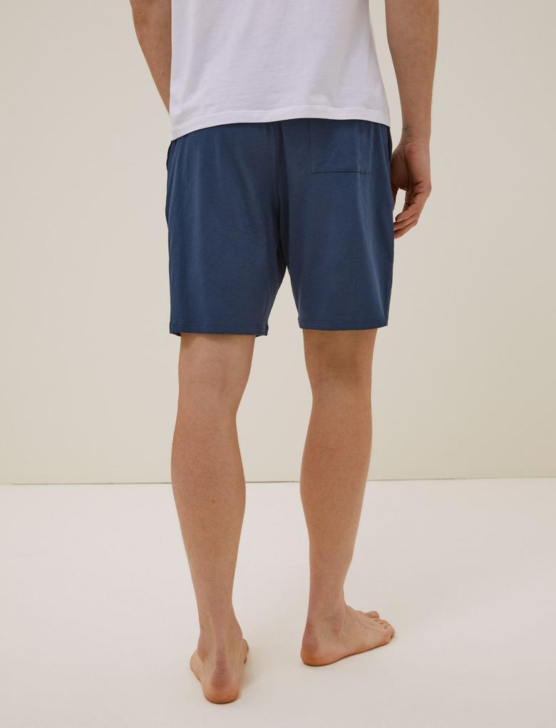 Erkek Lacivert Premium Pamuklu Şort Pijama Altı