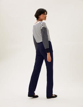 Kadın Lacivert Straight Leg Jogger Pantolon