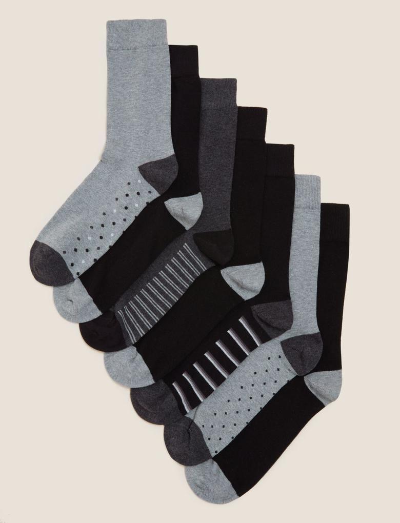 Erkek Gri 7'li Cool & Fresh™ Çorap Seti