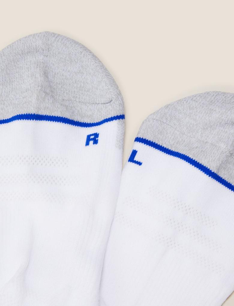 Erkek Beyaz 5'li Trainer Çorap Seti