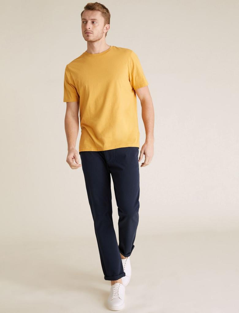 Erkek Lacivert Slim Fit Ultimate Chino Pantolon