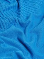 Kadın Mavi Fırfır Detaylı Örme Bluz