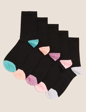 Kadın Siyah 5'li Sumptuously Soft™ Çorap Seti