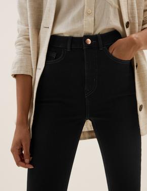 Kadın Siyah Yüksek Belli Magic Jean Pantolon