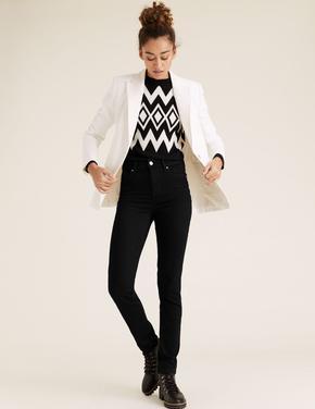 Kadın Siyah Slim Fit Stretch Jean Pantolon