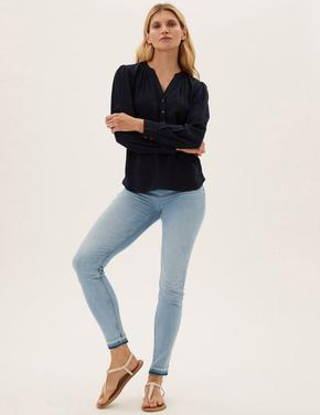 Kadın Mavi Supersoft Skinny Jean Pantolon