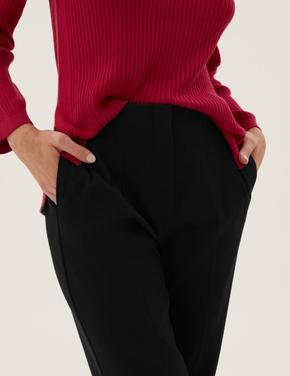 Kadın Siyah Tapered 7/8 Pantolon