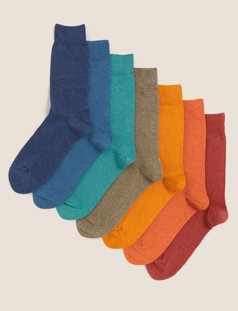 Erkek Multi Renk Cool&Fresh 7'li Çorap Seti