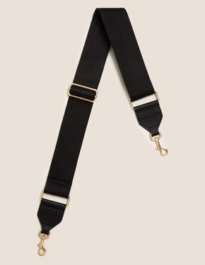 Kadın Siyah Omuz Çanta Askısı