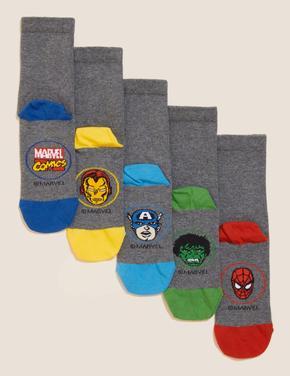 Çocuk Gri 5'li Avengers™ Çorap