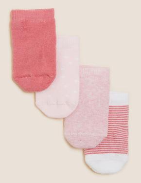 Çocuk Pembe 4'lü Havlu Çorap (0-24 Ay)