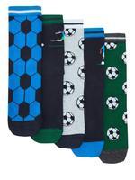 Çocuk Multi Renk 5'li Futbol Desenli Çorap