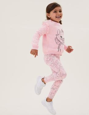 Kız Çocuk Pembe Aristocats™ Legging Tayt (2-7 Yaş)
