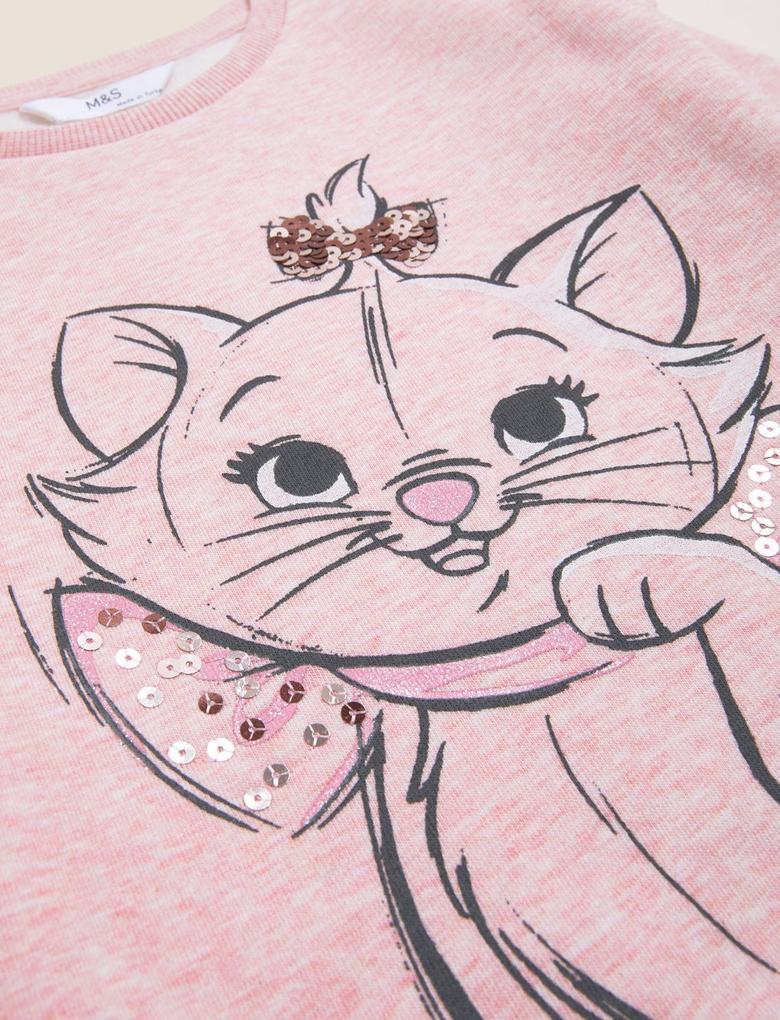 Kız Çocuk Pembe Aristocats™ Sweatshirt (2-7 Yaş)