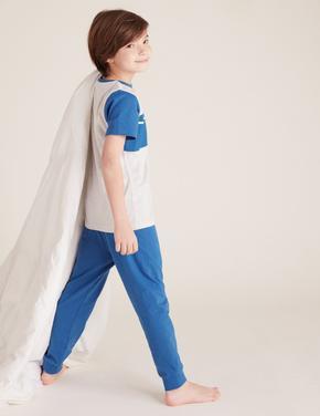 Çocuk Multi Renk Star Wars™ Pamuklu Pijama Takımı (5-14 Yaş)