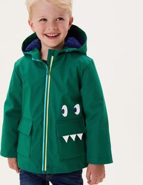 Erkek Çocuk Yeşil Stormwear™ Kapüşonlu Balıkçı Mont (2-7 Yaş)