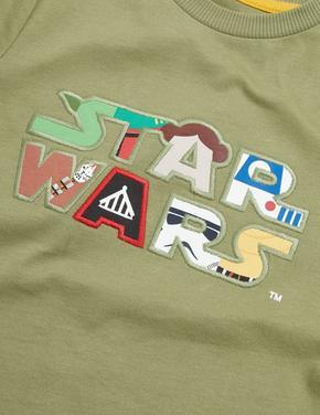 Erkek Çocuk Yeşil Saf Pamuk Star Wars™ T-Shirt (2-7 Yaş)