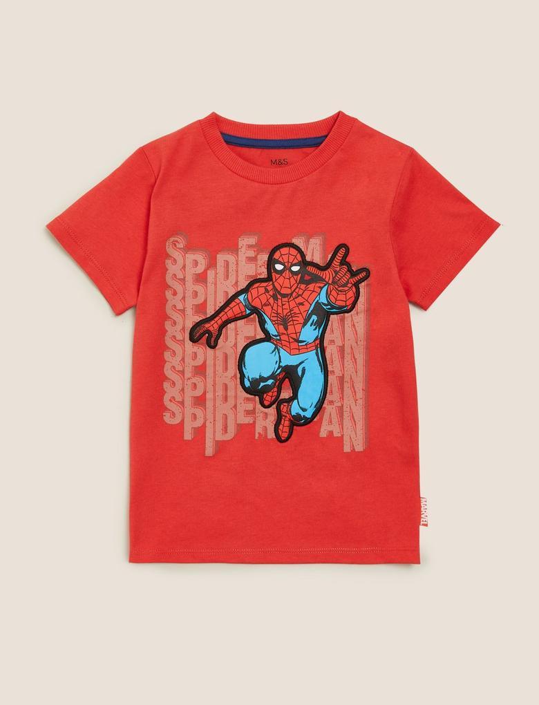 Erkek Çocuk Kırmızı Saf Pamuk Spider-Man™ T-Shirt (2-7 Yaş)