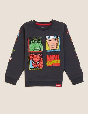 Erkek Çocuk Siyah Marvel™ Sweatshirt