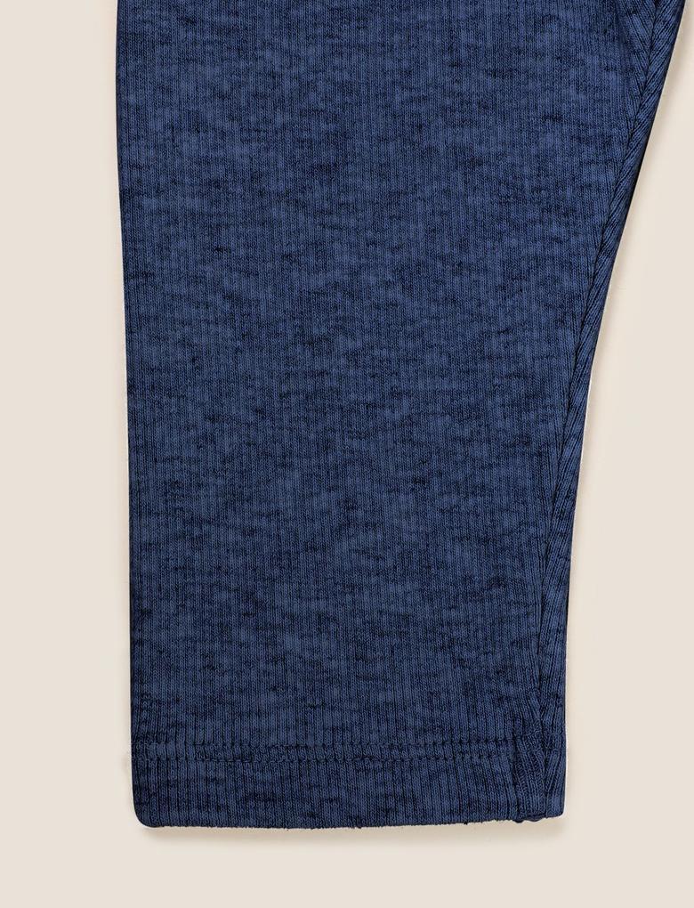 Bebek Lacivert Fitilli Legging Tayt (0-3 Yaş)