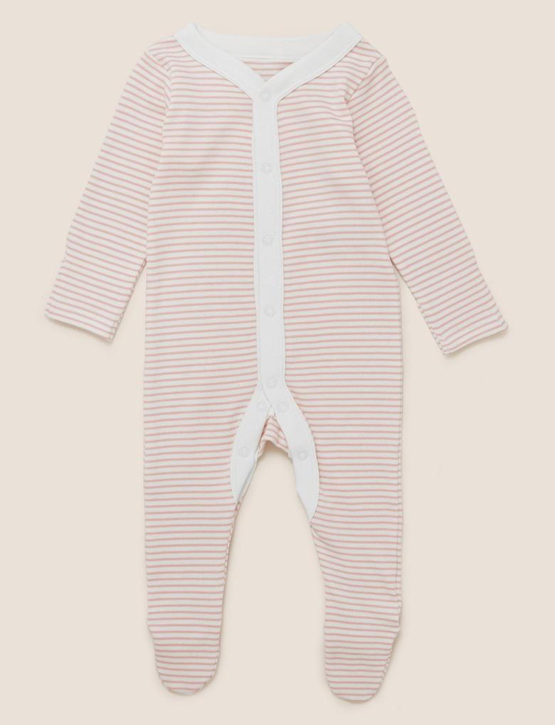 Bebek Pembe 3'lü Saf Pamuklu Uyku Tulumu