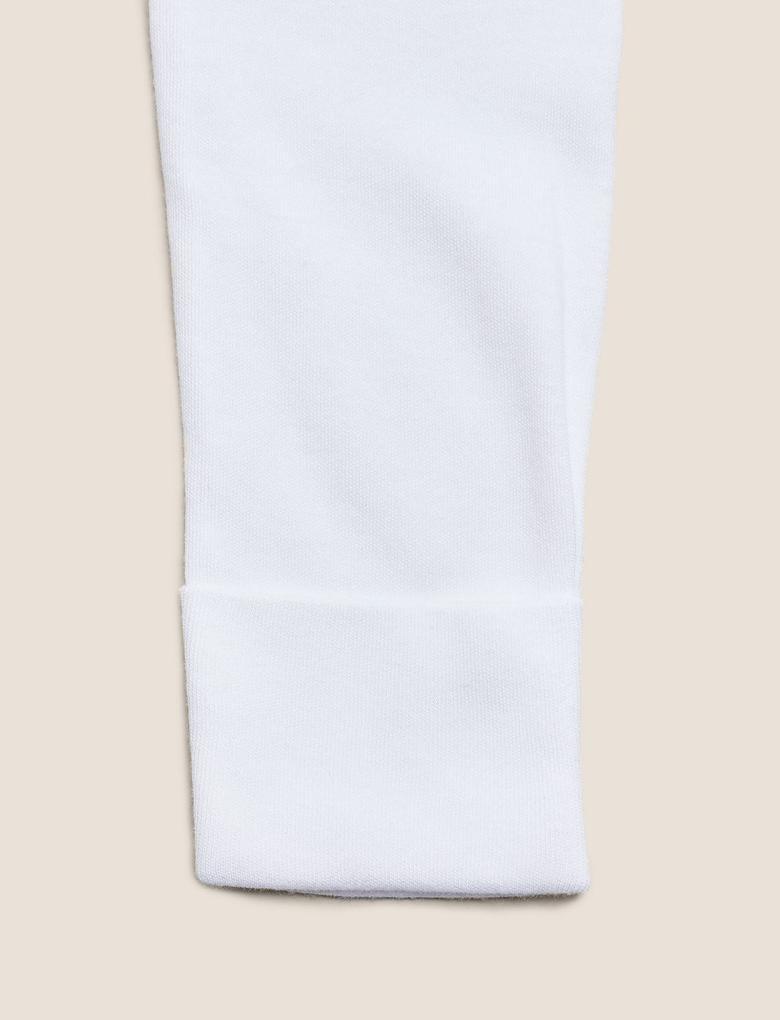 Bebek Bej 2'li V Yaka Bodysuit (0-12 Ay)