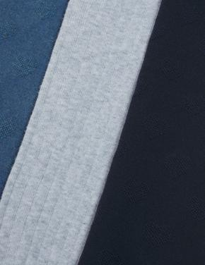 Çocuk Mavi 3'lü Külotlu Çorap