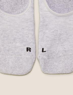 Kadın Gri 3'lü Babet Çorabı