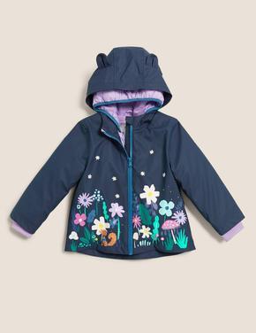 Kız Çocuk Lacivert Stormwear™ 3'ü 1 Arada Kapüşonlu Balıkçı Mont (2-7 Yaş)