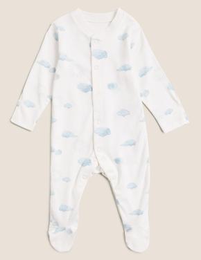 Bebek Mavi Saf Pamuk 4'lü Başlangıç Seti (0-12 Ay)