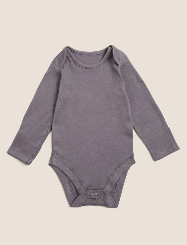 Bebek Multi Renk Saf Pamuk 5'li Grafik Desenli Bodysuit (0-3 Yaş)