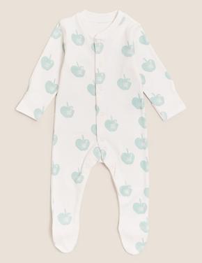 Bebek Krem Saf Pamuk 3'lü Grafik Desenli Uyku Tulumu (0-3 Yaş)