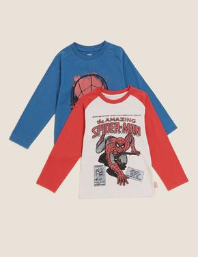 Erkek Çocuk Multi Renk Saf Pamuk 2'li Spider-Man™ T-Shirt (2-7 Yaş)