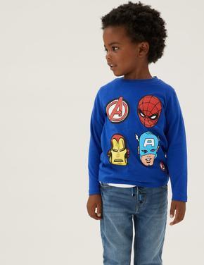 Erkek Çocuk Multi Renk Saf Pamuk 2'li Marvel Superheroes™ T-Shirt (2-7 Yaş)