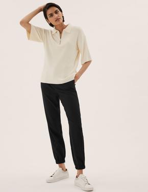 Kadın Siyah Slim Fit Jogger Pantolon