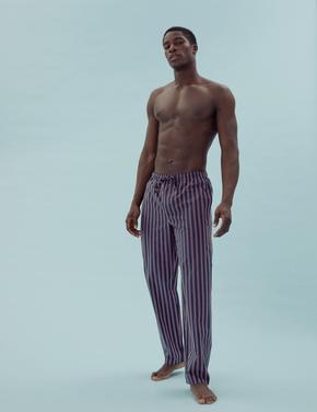 Erkek Bordo Saf Pamuklu 2'li Pijama Altı