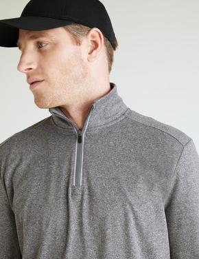 Erkek Gri Active Uzun Kollu Sweatshirt