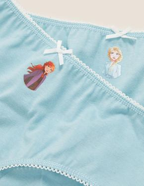 Çocuk Beyaz Saf Pamuklu 5'li Disney Frozen™ Külot (2-12 Yaş)