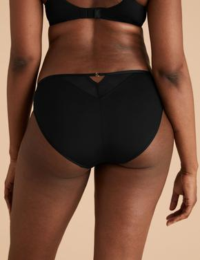 Kadın Siyah High Leg Model Külot