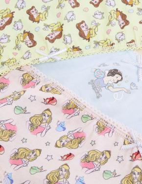 Çocuk Multi Renk Saf Pamuklu 5'li Disney Princess™ Külot (2-12 Yaş)
