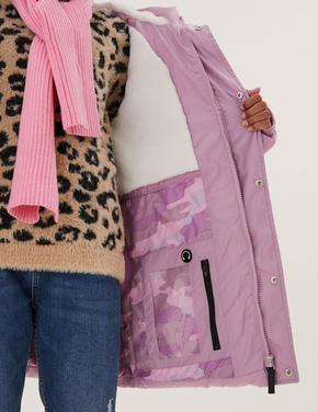 Kız Çocuk Pembe Stormwear™ Kapüşonlu Şişme Mont (6-16 Yaş)