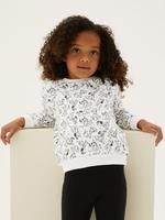 Kız Çocuk Beyaz 101 Dalmatians™ Sweatshirt (2-7 Yaş)
